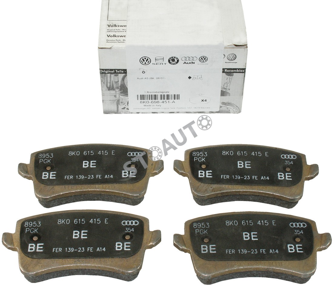 8K0698451A set placute frana,frana disc OE