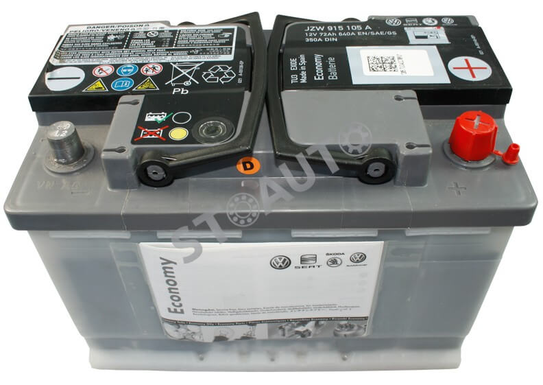 JZW915105A Baterie de pornire 72 AH originala VW AUDI SKODA OE