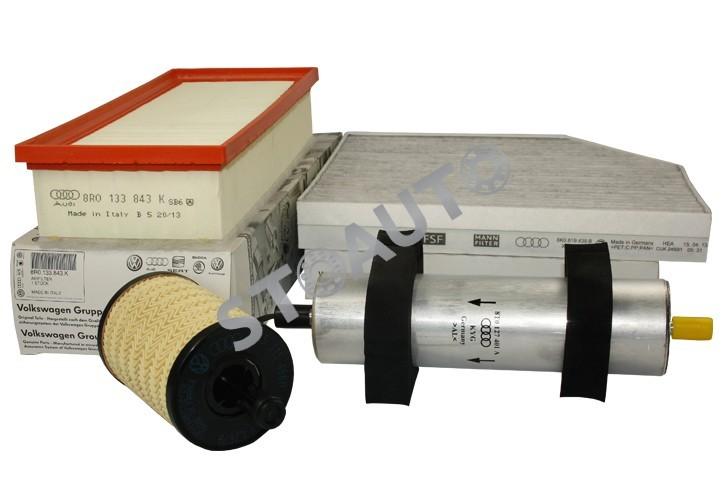 A4B82.0TDI143OE Set filtre revizie originale AUDI A4 B8 2.0 TDI 143 cai OE