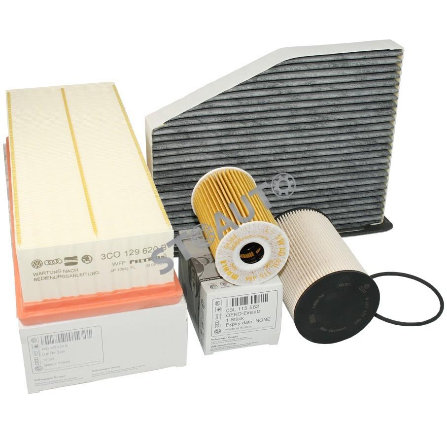 G61.6TDI105OE Set filtre revizie originale VW Golf 6 1.6 TDI 105 cai OE