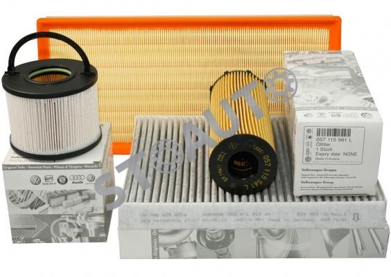 Q74L3.0TDI233CP Set filtre revizie originale AUDI Q7 4L 3.0 TDI 233 cai OE