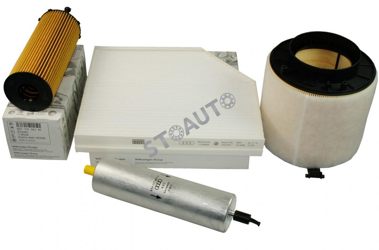A4B83.0TDI240OE Set filtre revizie originale AUDI A4 B8 3.0 TDI 240 cai OE