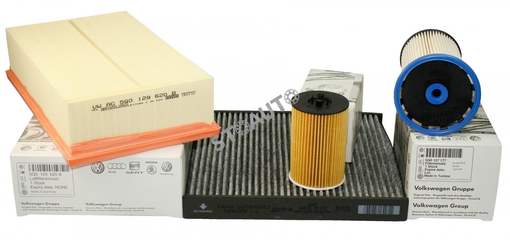 1518182269Set filtre revizie originale VW Passat B8 1.6 TDI 120 cai