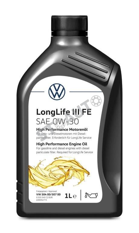 GS55545M2EUR Ulei de motor original Volkswagen 0w30 1L Longlife 3 norma 504.00 507.00 OE