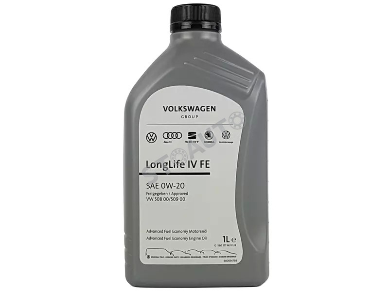 GS60577M2EUR Ulei de motor original Volkswagen 0w20 1L Longlife 4 norma 508.00 509.00 OE