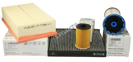 Set filtre revizie originale VW Passat B8 1.6 TDI 120 cai
